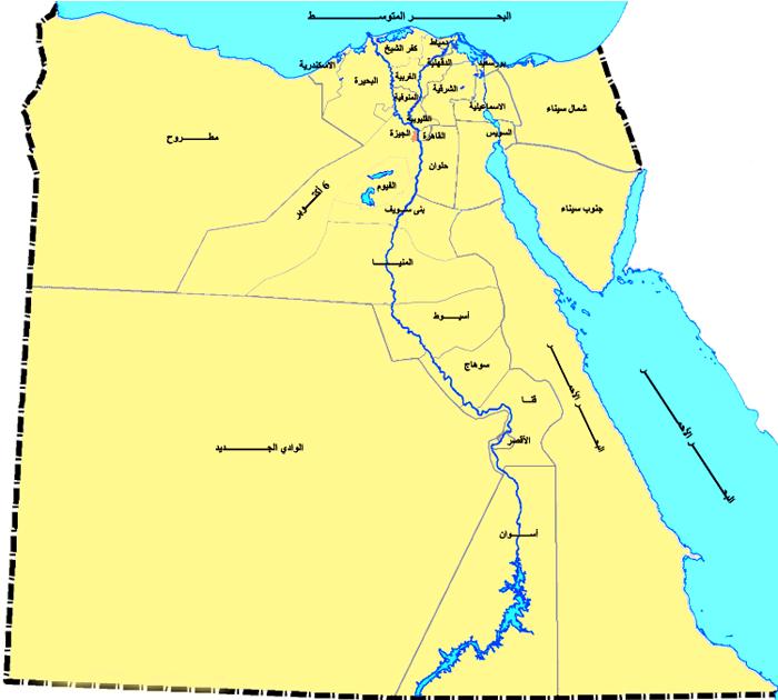 الصفحة الرئيسية خريطة محافظات مصر